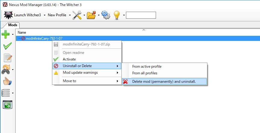 Nexus Mod Manager Witcher 3
