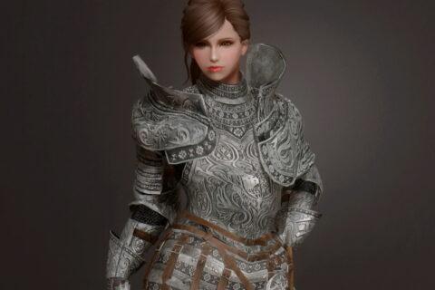 【Skyrim SE】MHW:I Silver knight layered armor