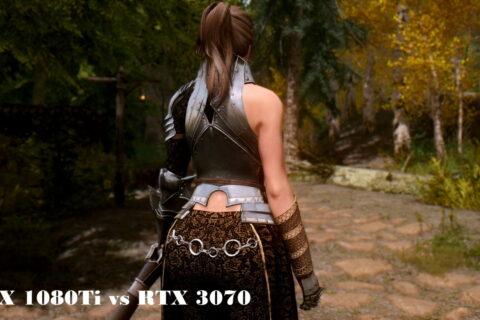 【Skyrim】LE GTX 1080Ti vs RTX 3070