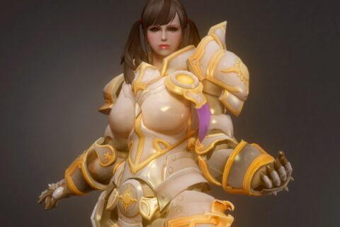 【Skyrim】Overwatch Briggitte solar armor